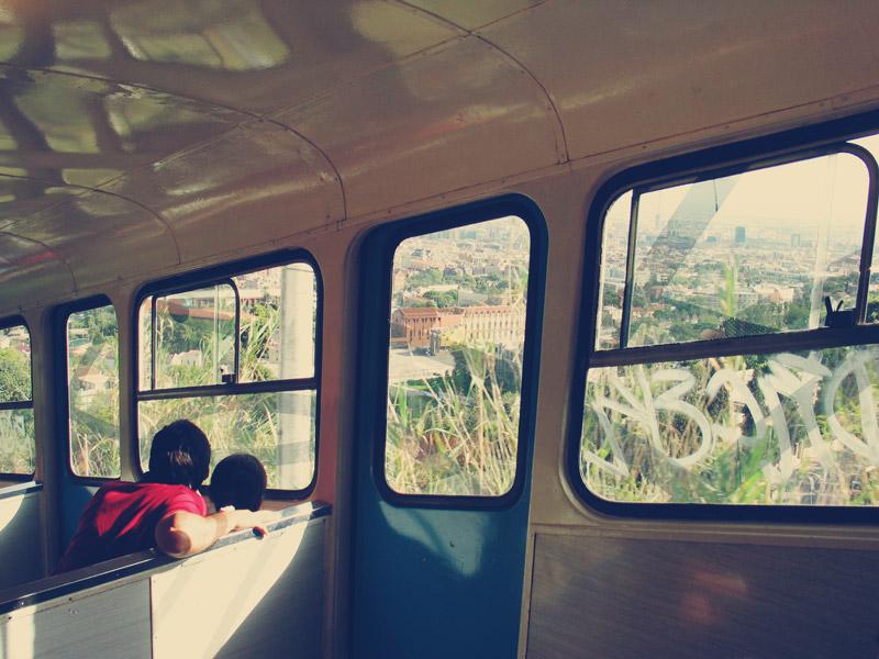 funiculaire menant au Tibidabo à Barcelone