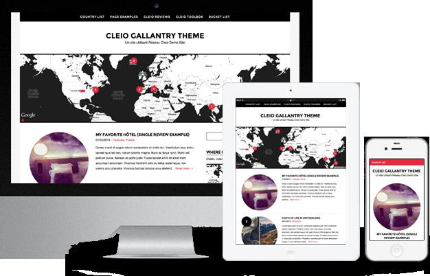 Thème WordPress voyage gallantry