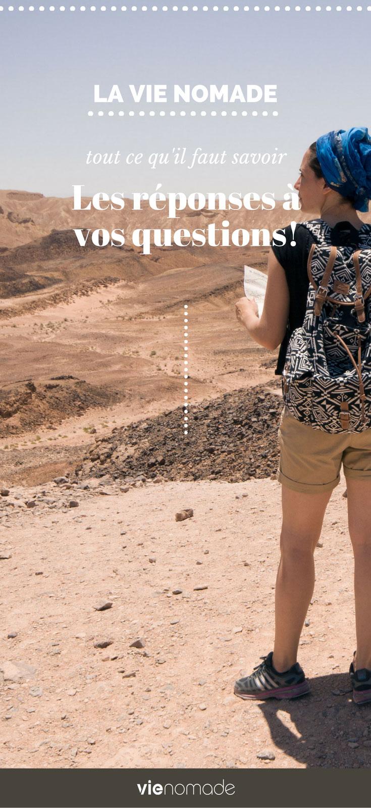 Questions / Réponses sur la Vie Nomade, comment devenir nomade?