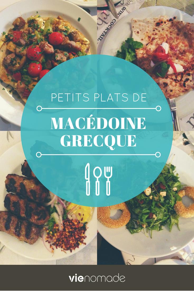 Cuisine et plats de Macédoine Grecque