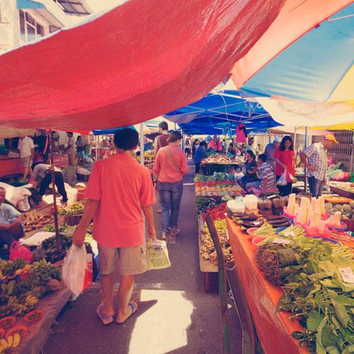 Marché de Kuching, Malaisie