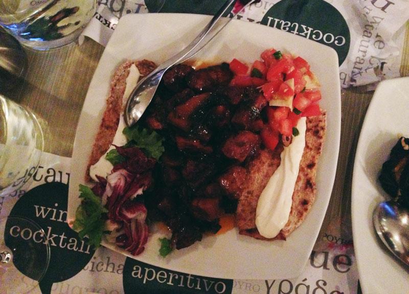 Manger en Macédoine: porc au vin