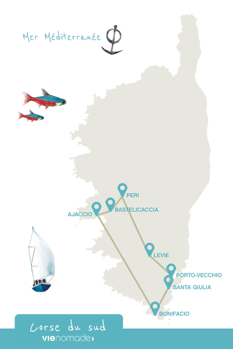 Road trip en Corse: itinéraire et carte de la Corse