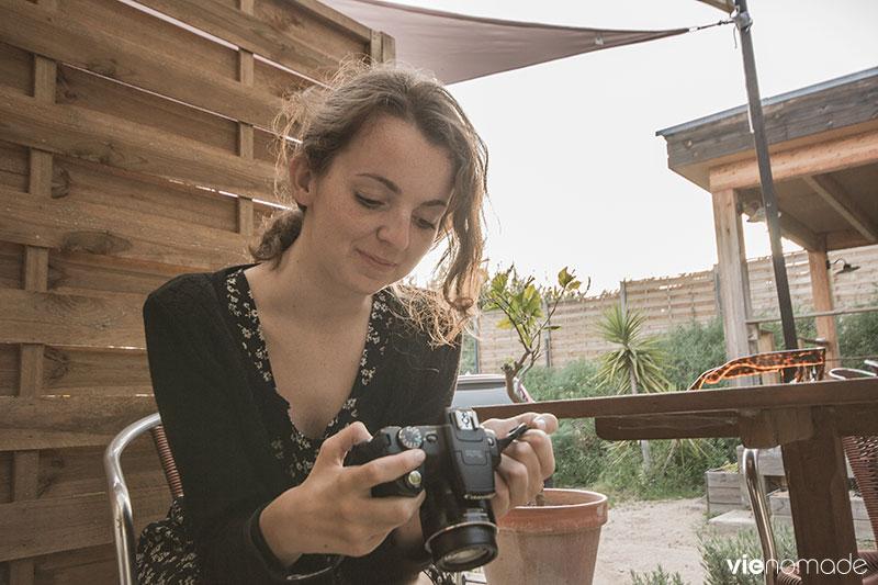 Audrey de Roulettes & Sac à dos
