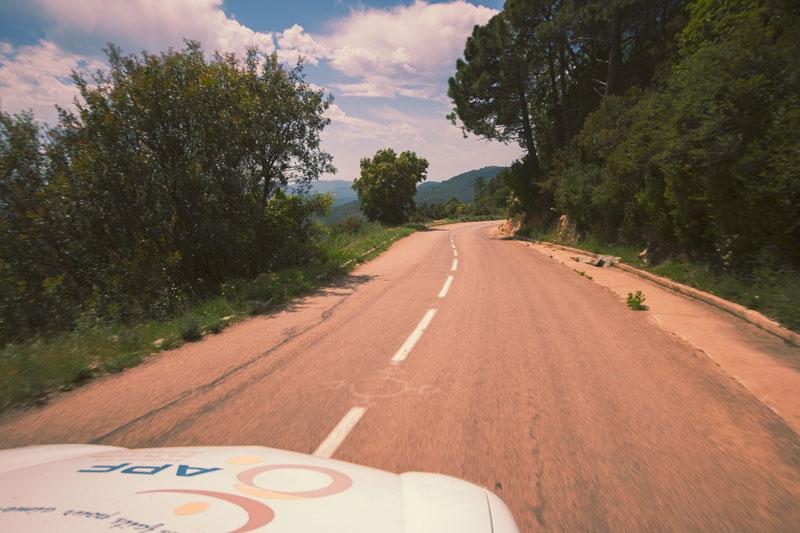 Route vers Porto-Vecchio, Corse