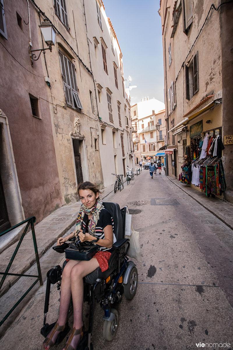 Audrey à Bonifacio, Corse