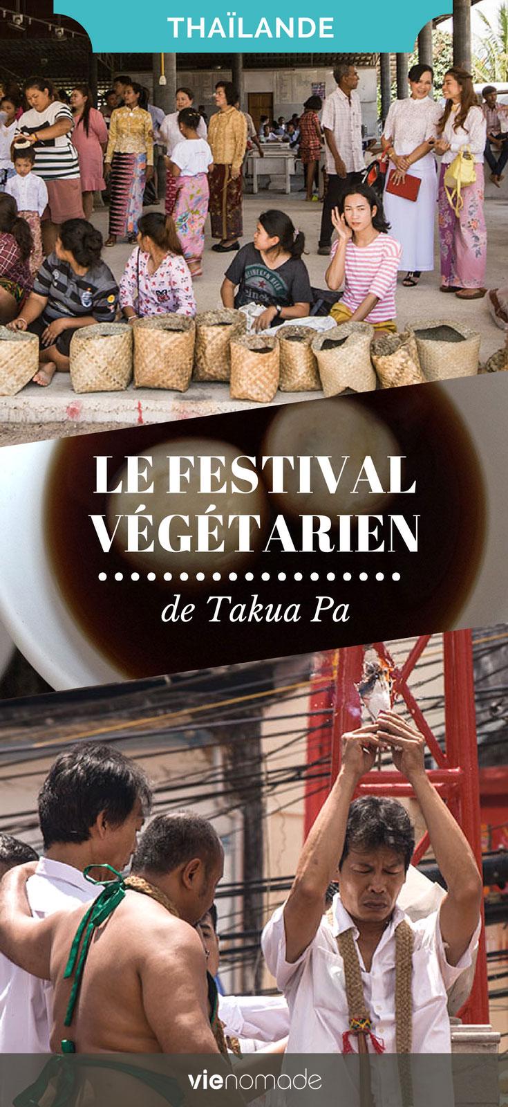 Le festival végétarien en Thaïlande