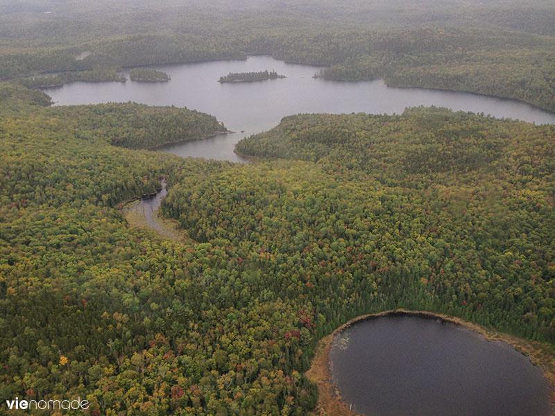 Survol de Sacacomie en hydravion