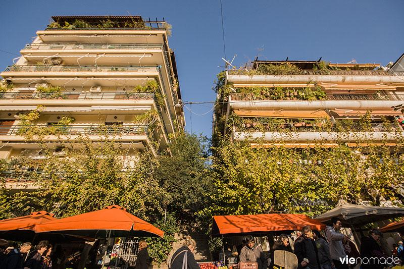 Marché de quartier, à Athènes