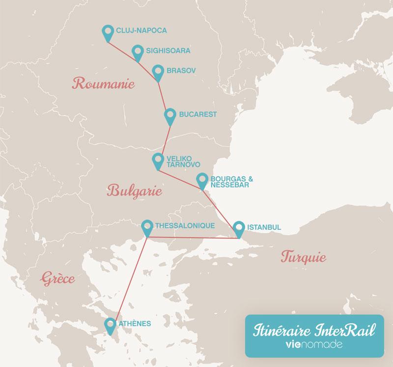 Interrail: itinéraire europe de l'est