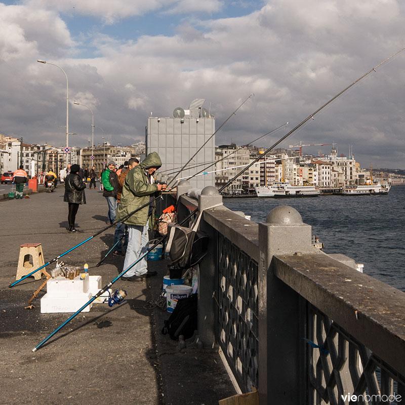 Pêcheurs du Pont Galata, Istanbul