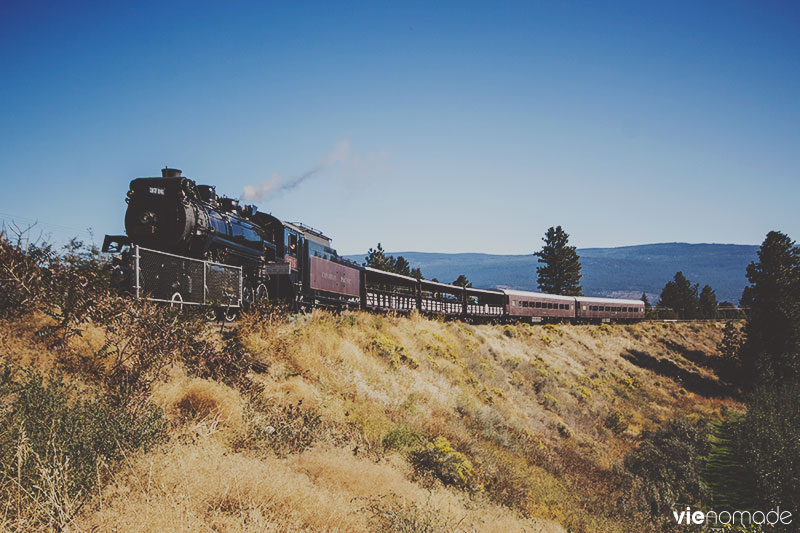 Train à vapeur Kettle Valley dans l'Okanagan