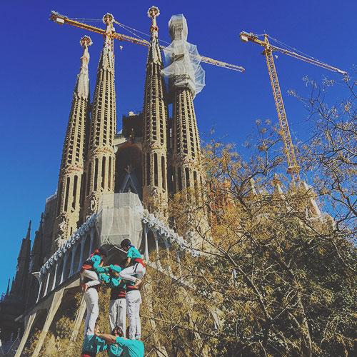 Les castellers, pyramides humaines de Catalogne