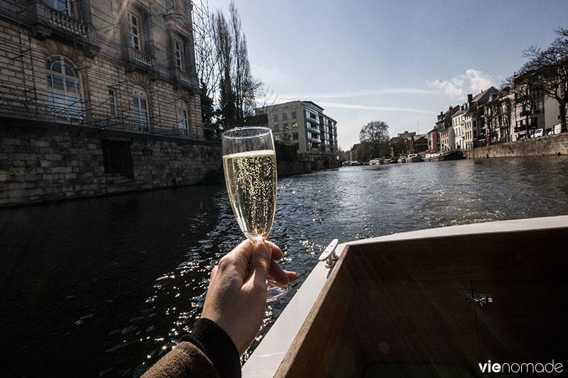 Balade en bateau à Gand