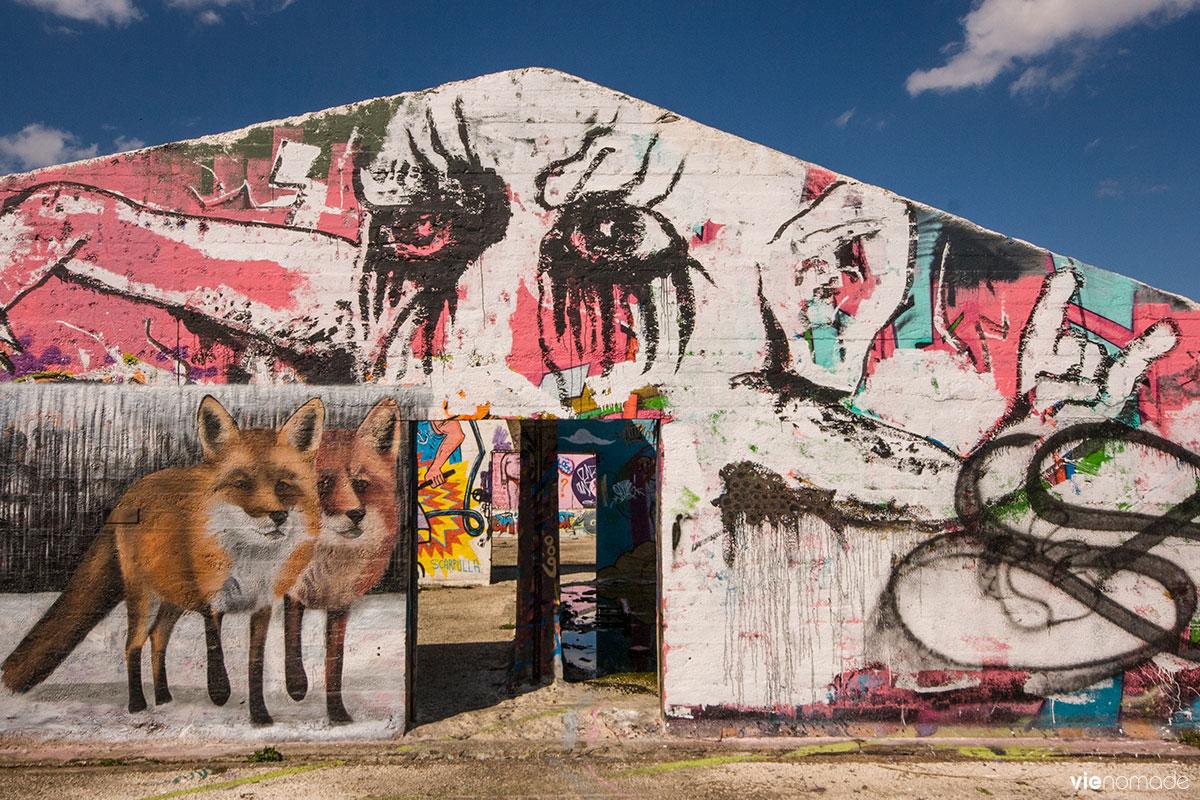 Graffitis à Grindbakken, Gand