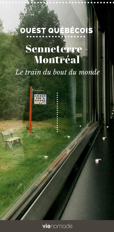 Voyage au Québec en train: Senneterre - Montréal