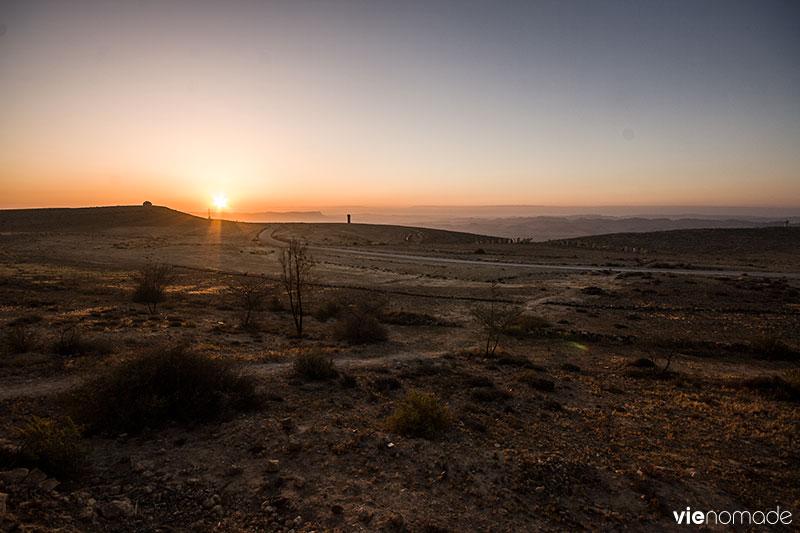 Lever de soleil sur Maktesh Ramon