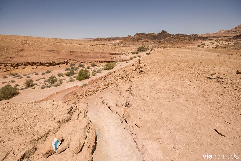 Marcher dans le désert du Néguev, Israël