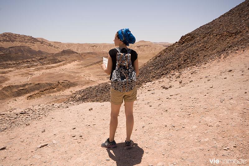 Randonnée dans le désert du Néguev, Israël