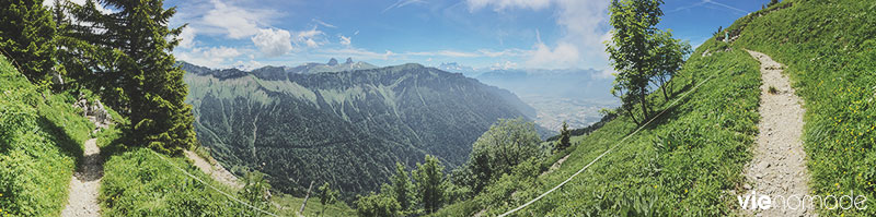 Panorama des Rochers de Naye, Suisse