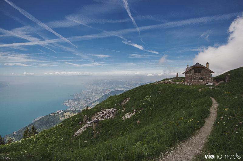 Chalet Sautodoz, aux Rochers de Naye, Suisse