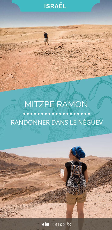 Randonnée dans le désert du Néguev à Mitzpe Ramon