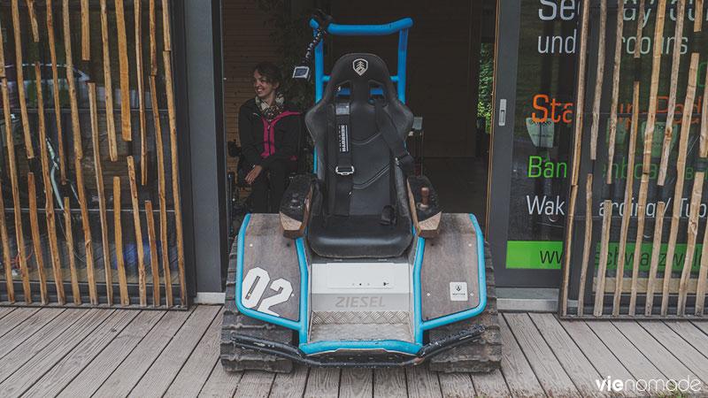 Le Ziesel, une chaise roulante tout-terrain