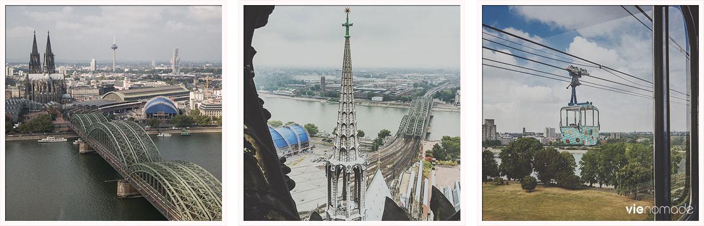Points de vue à Cologne, en hauteur