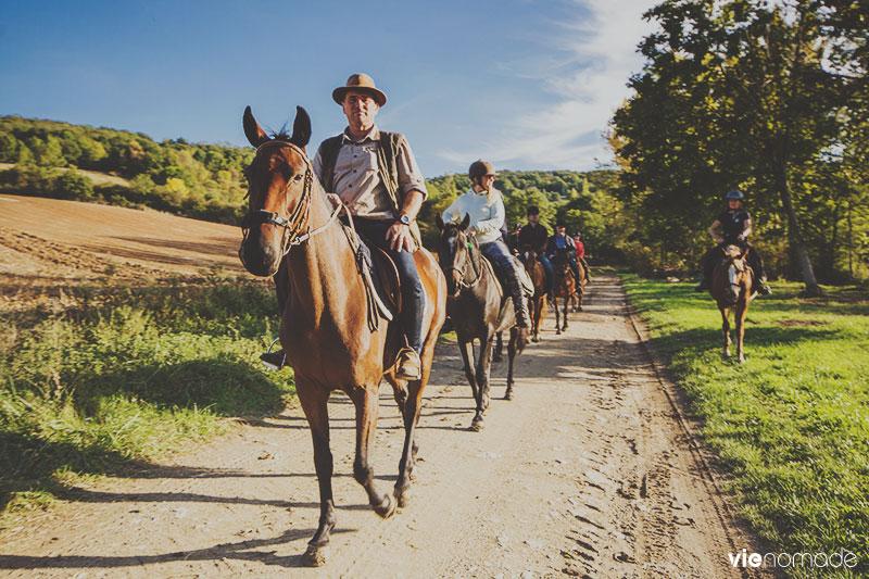 Balade à cheval en Auvergne
