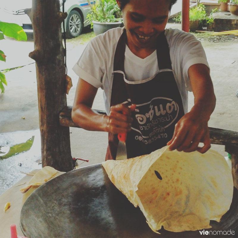Roti, spécialité de Thaïlande