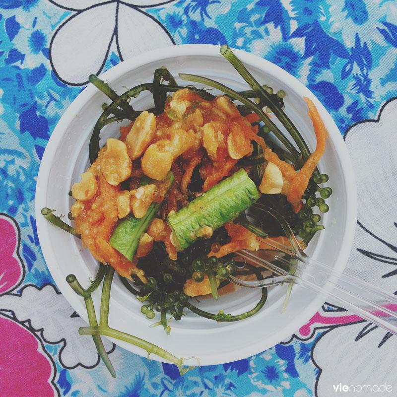 Salade som tam avec caviar vert
