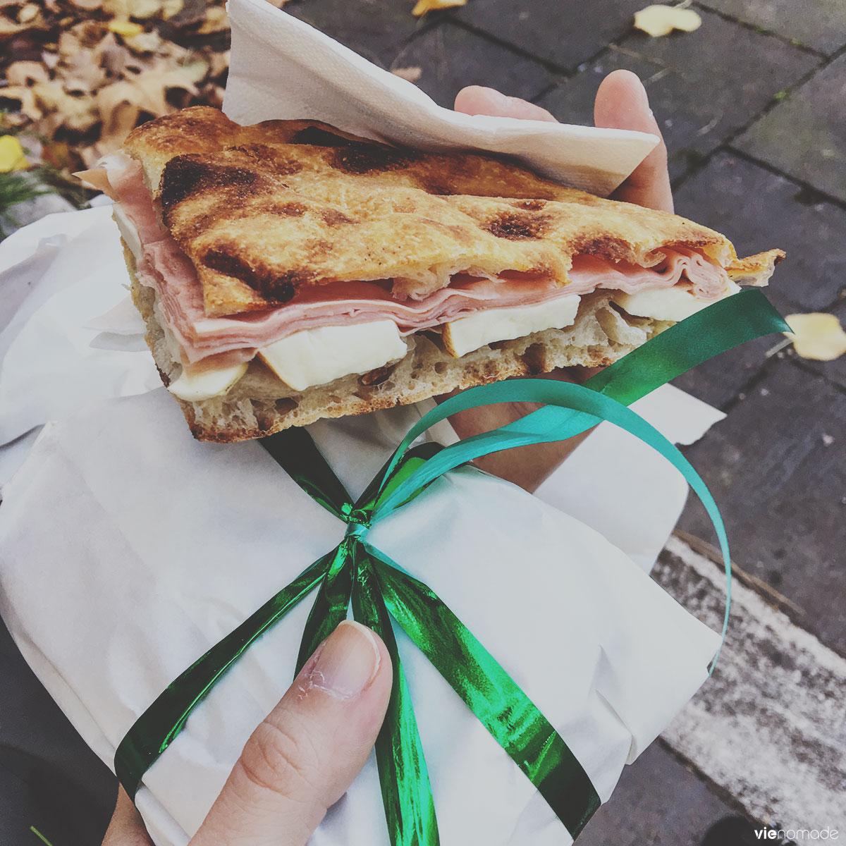 La merenda, sandwich frais