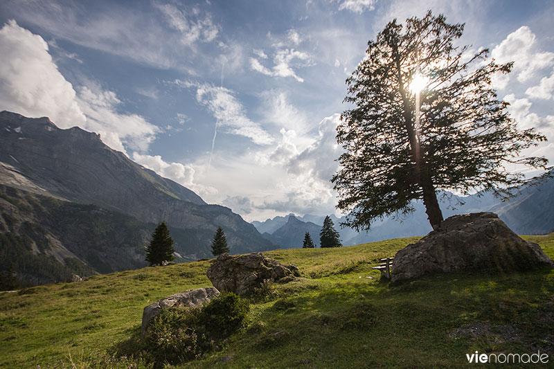 Randonnée dans la région d'Oeshinen, au patrimoine de l'UNESCO (Suisse)