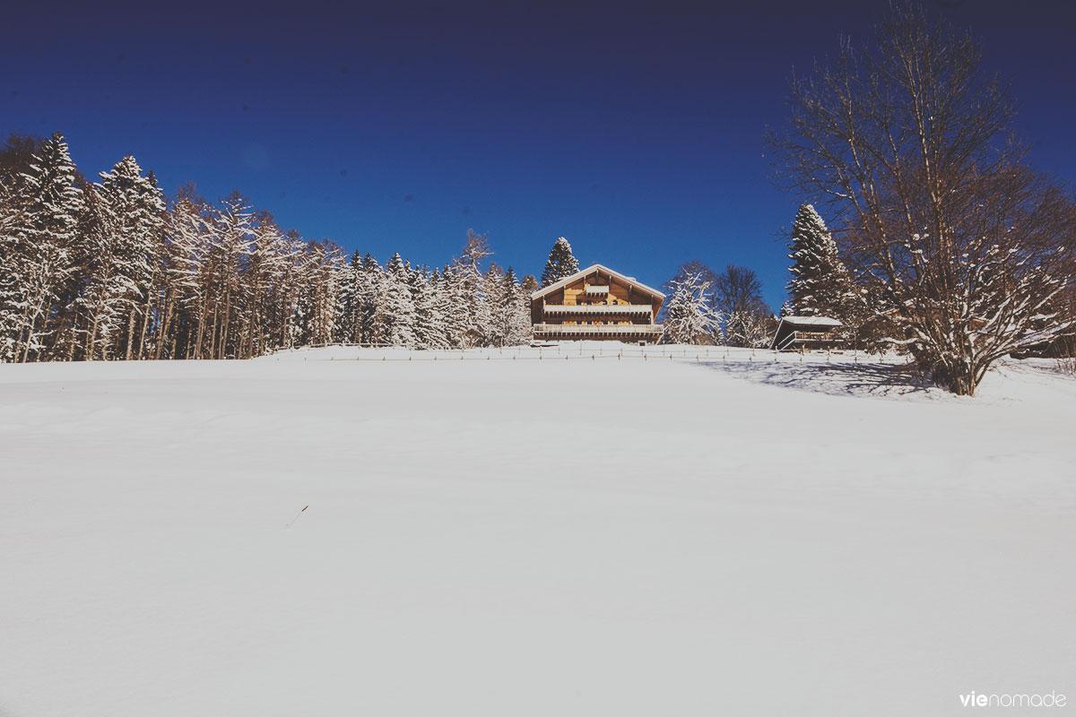 Balade dans la neige à Gryon