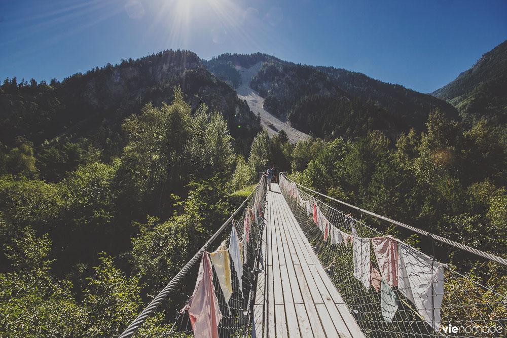 Pont bhoutanais de Pfyn-Finges