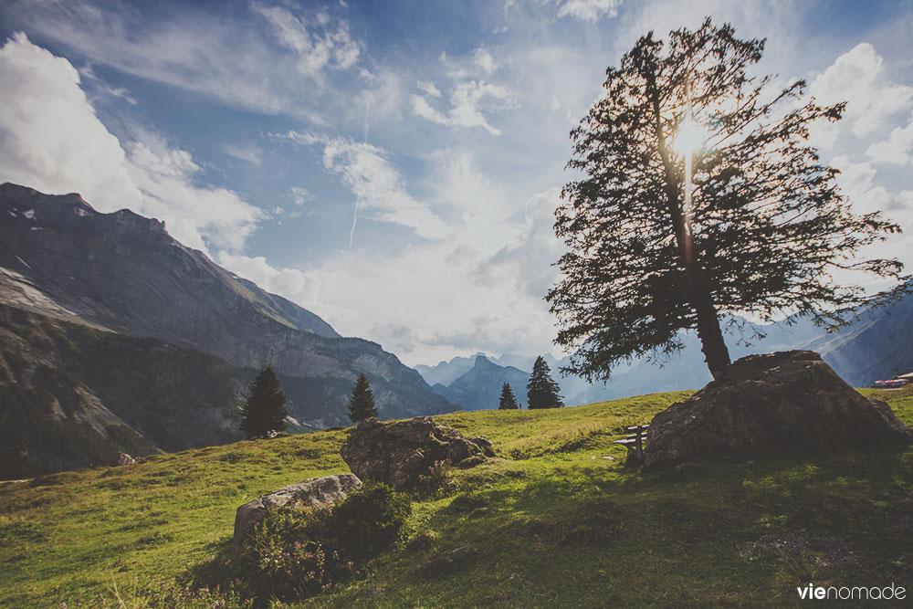 Balade en Suisse: lac d'oeschinen