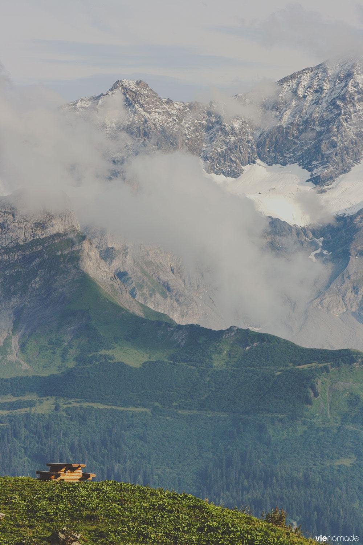 Randonnée à Ensex, Suisse
