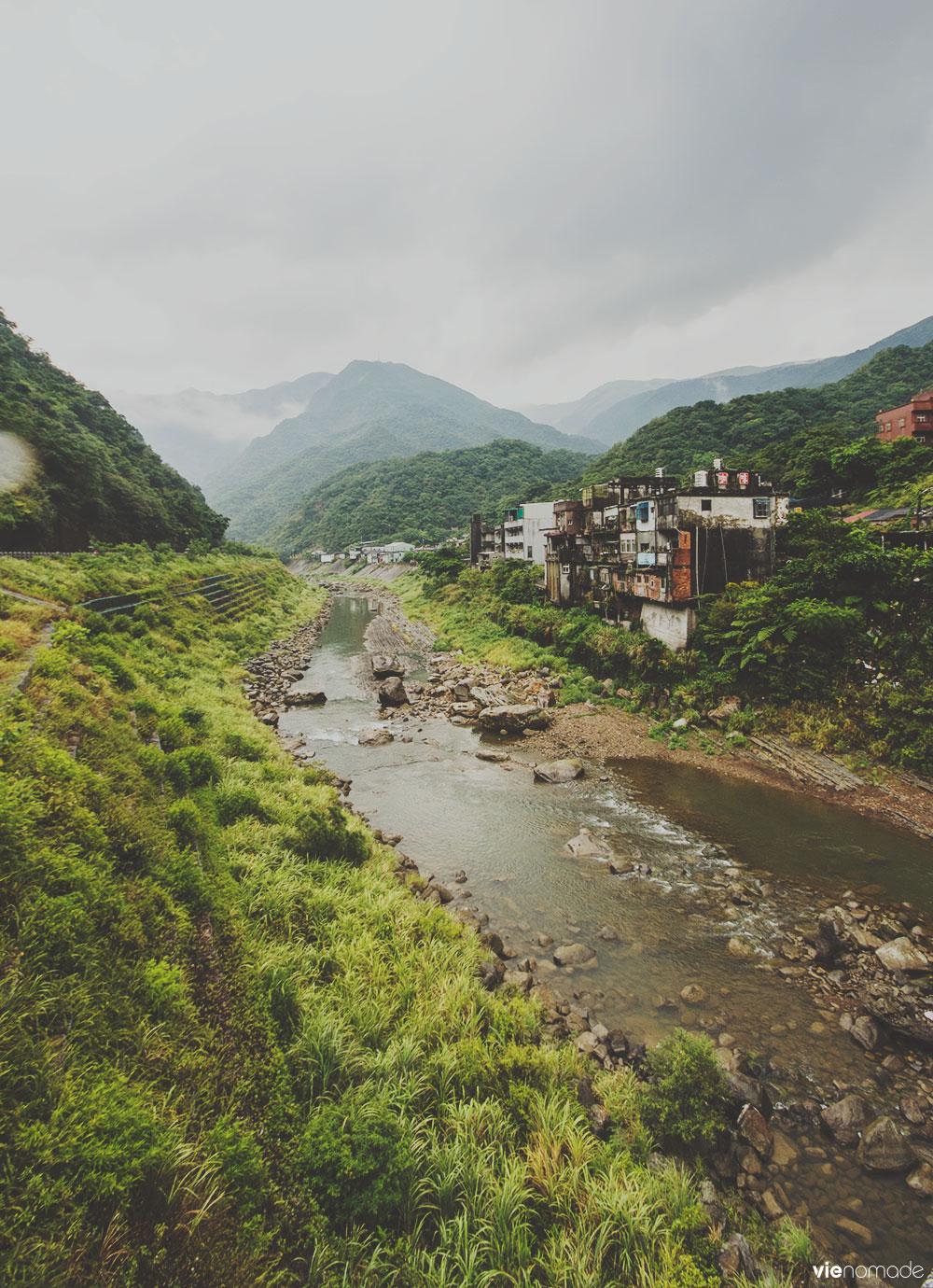 Village d'Houdong ou Houtong, à Taïwan