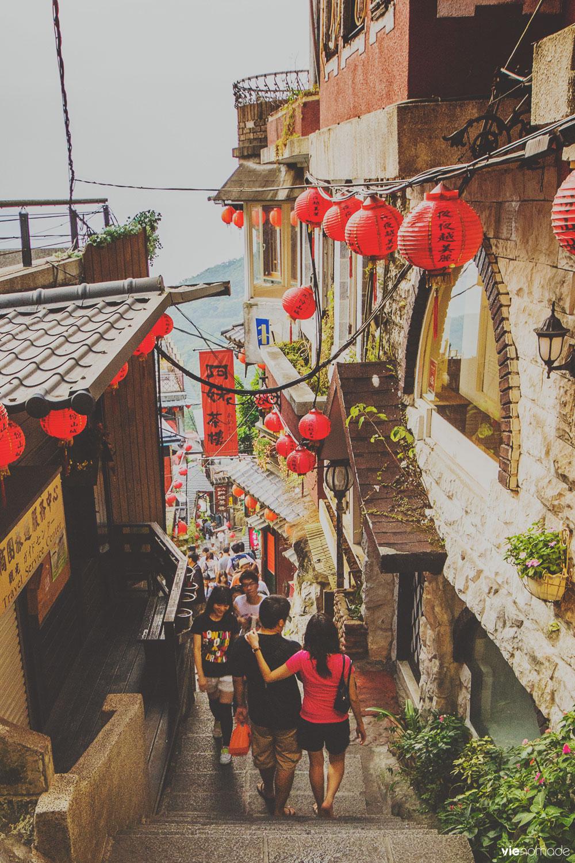 Les escaliers de Jiufen, Taïwan