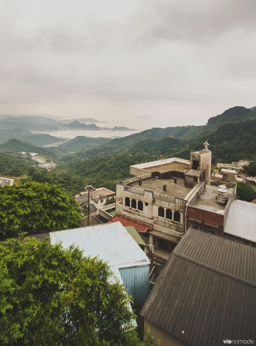 La vue de Jiufen, Taïwan