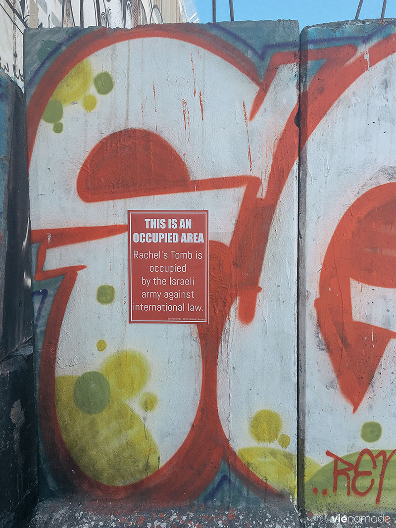Le mur à Bethléem, en Palestine