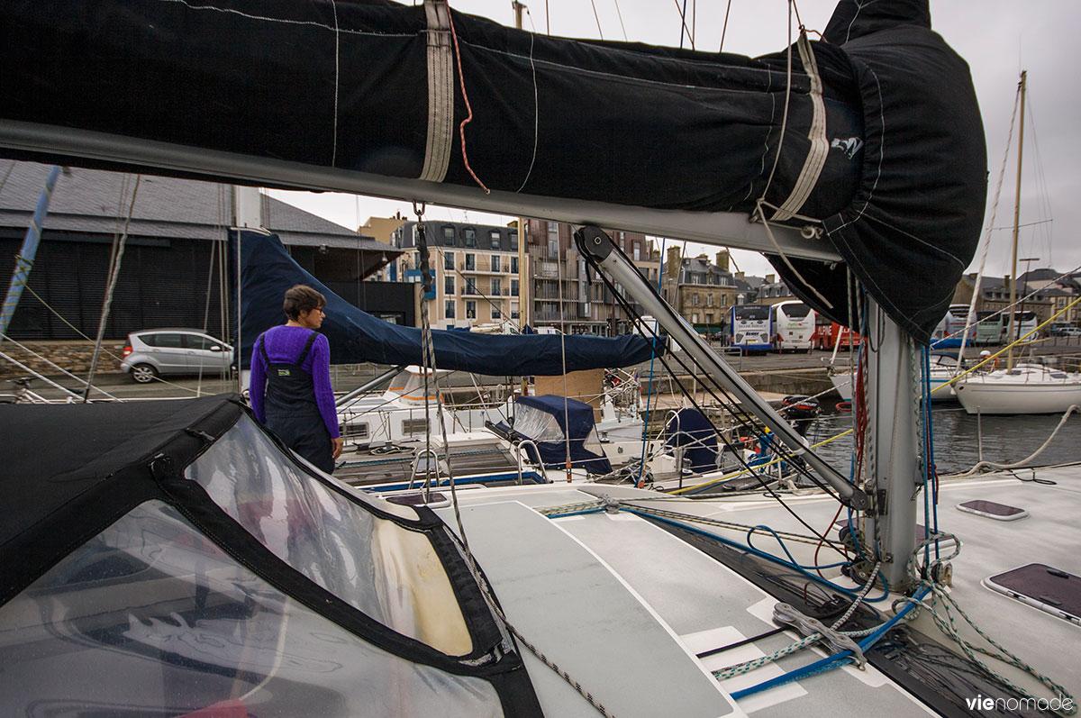 Port de Saint-Malo, en voilier