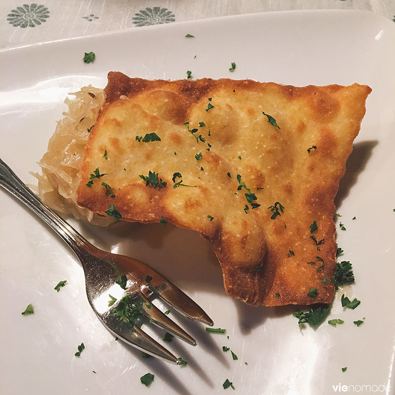 Cuisine traditionnelle du Tyrol au restaurant Sattlerwirt