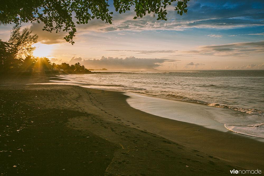 Coucher de soleil à Tahiti