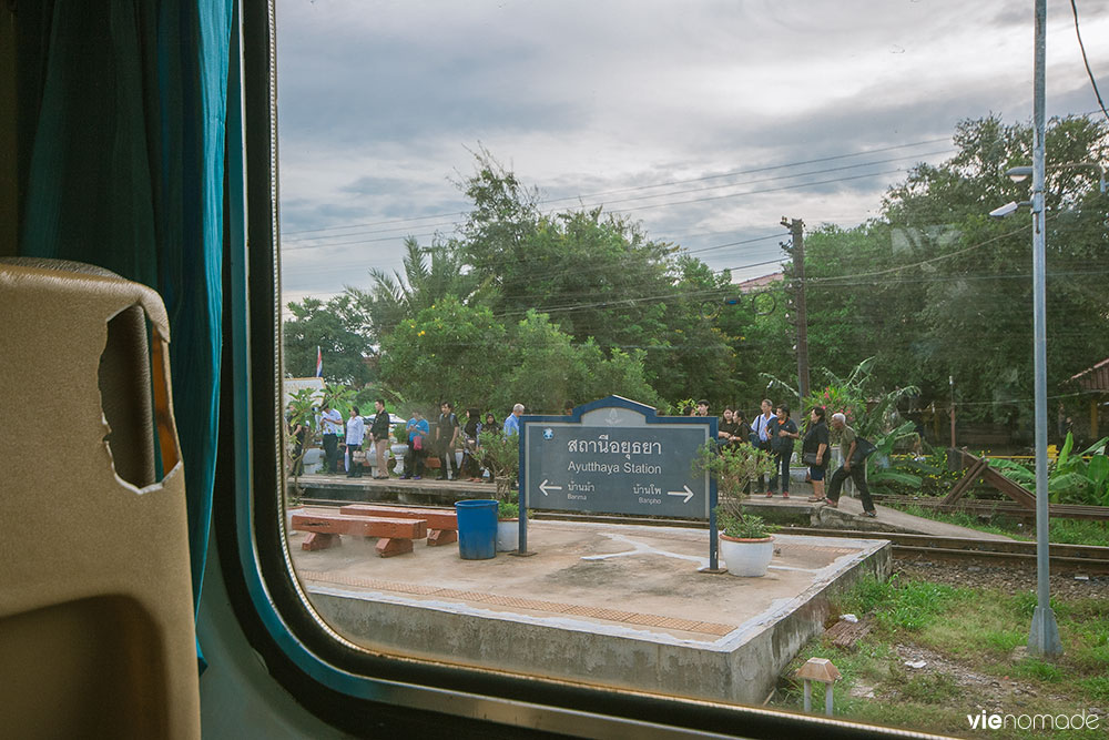 Le train de Bangkok à Buriram