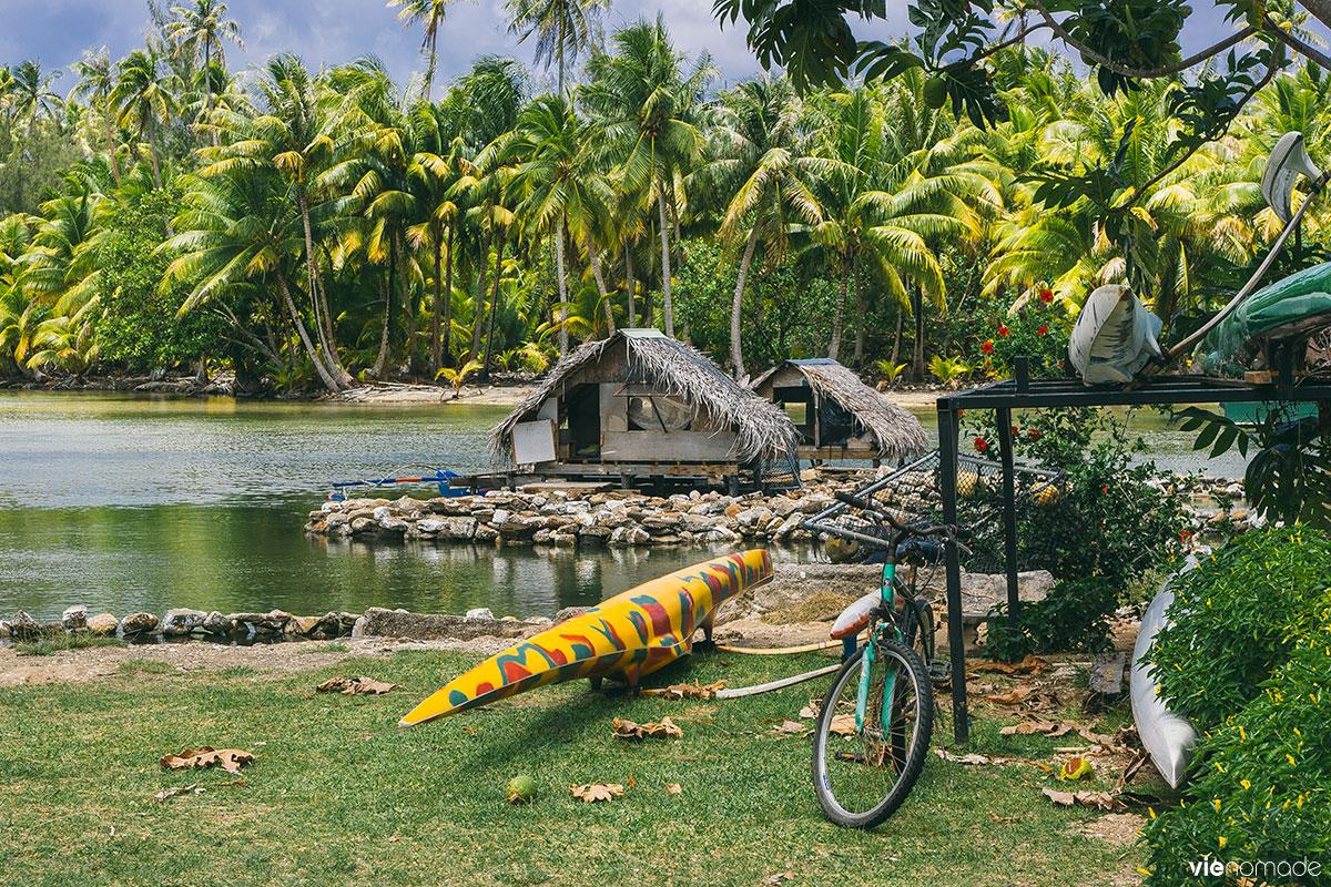 Cabanes de pêcheurs à Huahine