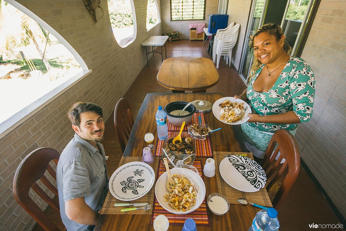 Cuisine traditionnelle de Polynésie à Huahine