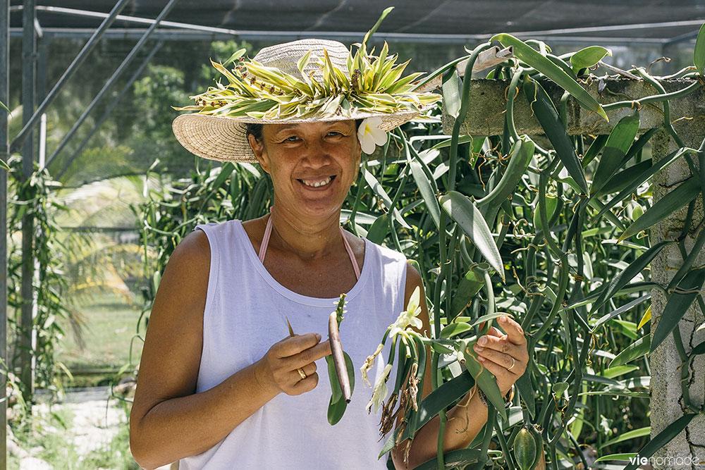 Les artisans cultivateurs de vanille à Huahine
