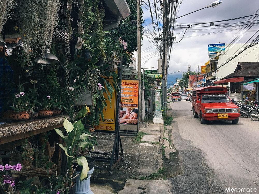 Se déplacer à Chiang Mai: Les bus rouges ou songtaew