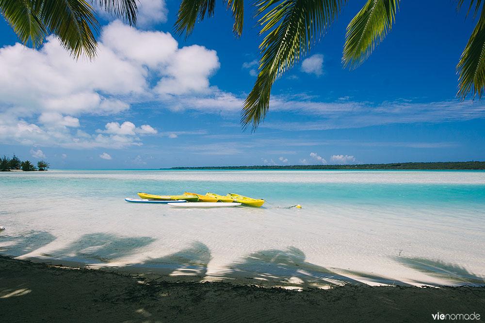 Plage de O'otu à Aitutaki